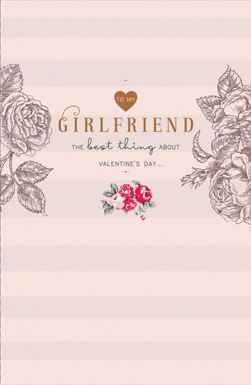 GIRLFRIEND VALENTINES CARD