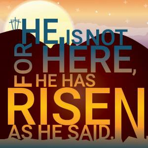 HE IS RISEN EASTER CARD PACK OF 5