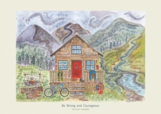BE STRONG AND COURAGEOUS HANNAH DUNNETT PRINT