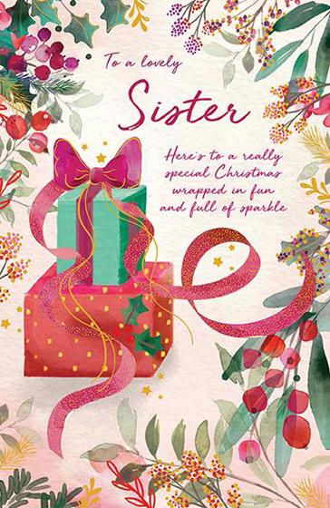 SISTER CHRISTMAS CARD