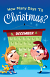 HOW MANY DAYS TIL CHRISTMAS TRACT PACK OF 25