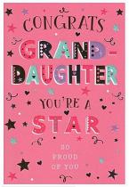 CONGRATS GRANDDAUGHTER CARD