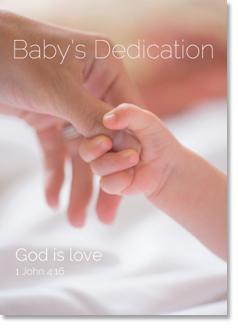 BABYS DEDICATION CARD
