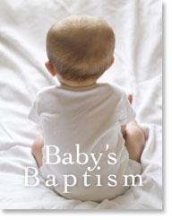 BABYS BAPTISM PETITE CARD