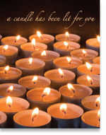 A CANDLE HAS BEEN LIT FOR YOU PETITE CARD