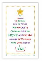 TEA TOWEL CHRISTMAS BLESSING