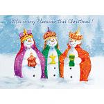 TLM THREE KINGS SNOWMEN 10 PACK CARDS