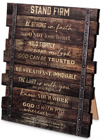 INDUSTRIAL FARMHOUSE STAND FIRM PLAQUE
