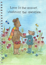 LOVE IS THE ANSWER A5 NOTEBOOK