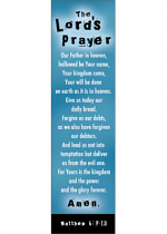 10 LORD'S PRAYER BLUE BOOKMARKS