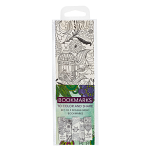 COLOURING BOOKMARKS GREEN PACK OF 5