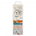 COLOURING BOOKMARKS ORANGE PACK OF 5