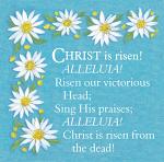 CHRIST IS RISEN EASTER PACK OF 5