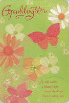 GRANDDAUGHTER EASTER GREETINGS CARD