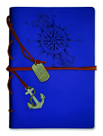 COMPASS JOURNAL WITH WRAP AND BOOKMARK