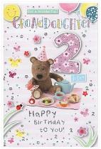 GRANDDAUGHTER 2ND BIRTHDAY CARD