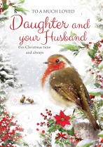 DAUGHTER AND HUSBAND CHRISTMAS CARD