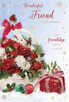 FOR A WONDERFUL FRIEND CHRISTMAS CARD