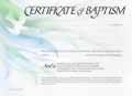 CERTIFICATE OF BAPTISM B151 PACK OF 20
