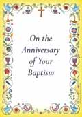 ANNIVERSARY OF BAPTISM CARD BC1 PACK OF 10