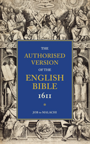 AUTHORISED VERSION OF THE ENGLISH BIBLE 1611 VOLUME 3 JOB TO MALACHI