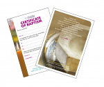HOLY BAPTISM CERTIFICATE PACK OF 20