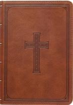 KJV LARGE PRINT COMPACT BIBLE BROWN