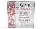 4X4 GIVE THANKS GLASS BLOCK