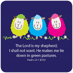 LORD IS MY SHEPHERD COASTER