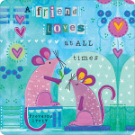 A FRIEND LOVES MICE COASTER