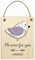 CHIRPS PLAQUE HE CARES FOR YOU