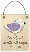 CHIRPS PLAQUE HANDLE WITH PRAYER