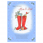 MUM AND DAD CHRISTMAS CARD