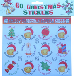60 CHRISTMAS SMILEY STICKERS