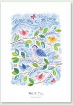 THANK YOU BIRD CARD