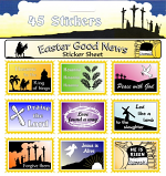 45 EASTER GOOD NEWS STICKERS