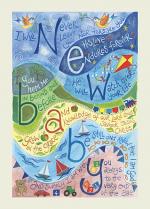 HANNAH DUNNETT CARD NEW BABY BLUE