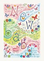HANNAH DUNNETT CARD NEW BABY PINK