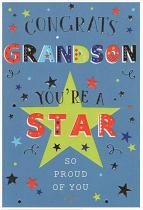 CONGRATS GRANDSON CARD