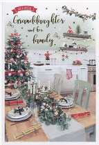 GRANDDAUGHTER AND FAMILY CHRISTMAS CARD