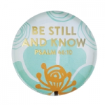 BE STILL GLASS DOME MAGNET