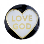 LOVE GOD GLASS DOME MAGNET