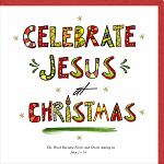 CELEBRATE JESUS CHRISTMAS CARD