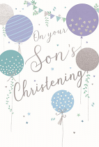 SONS CHRISTENING GREETING CARD