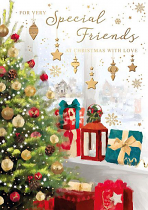 FOR VERY SPECIAL FRIENDS CHRISTMAS CARD