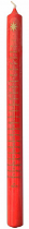 ADVENT CANDLE 12 x 1 RED STAR
