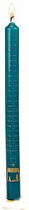 ADVENT CANDLE 12 x 1 TEAL NATIVITY