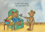 A GET WELL WISH CARD