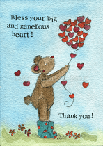 THANK YOU GENEROUS HEART CARD