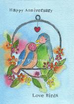 ANNIVERSARY LOVE BIRDS CARD